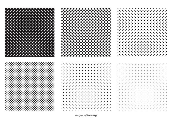 Seamless Polka Dot Vector Patterns
