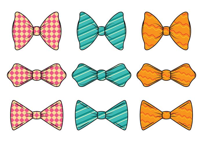 Set di cravatta vettoriale