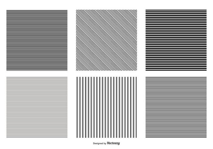 Seamless Pinstripe Vector Patterns