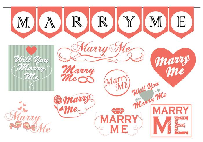 Marry Me Signs Collection
