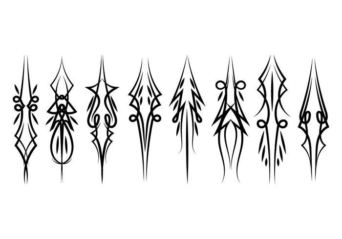 Vertical Pinstripes Vectors