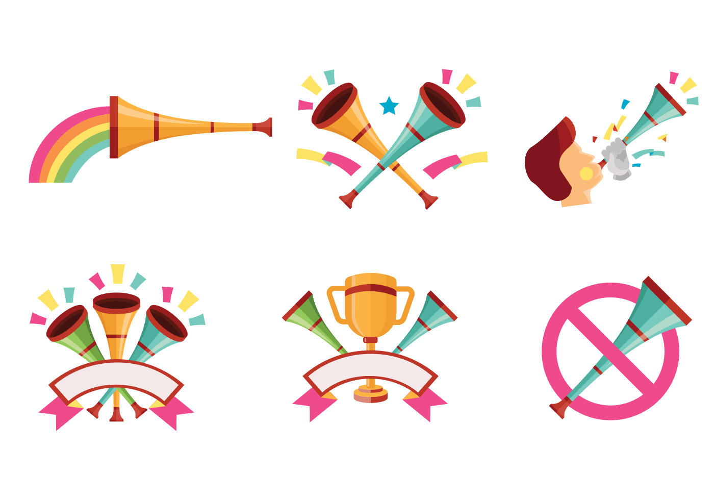 Celebratory Vuvuzela Vectors Download Free Vector Art