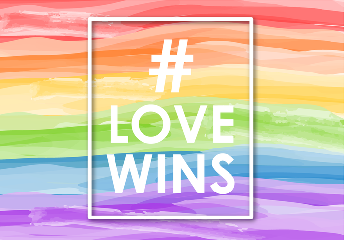 Free Love Wins Background Vector