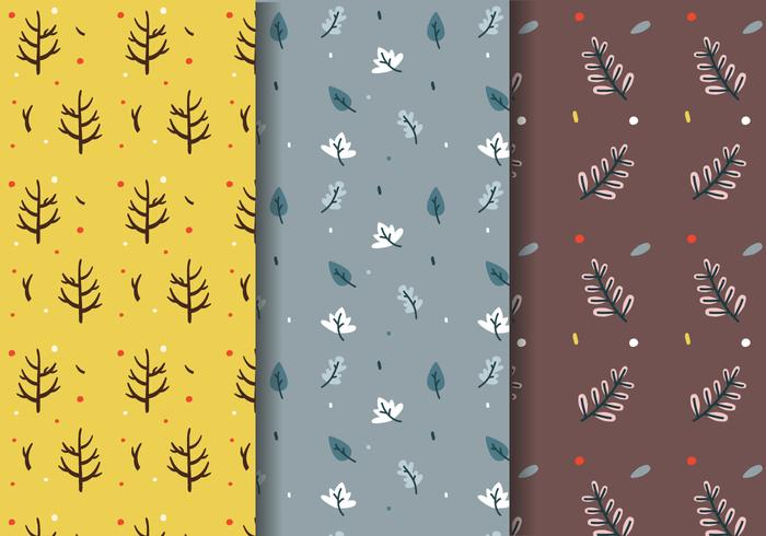 Free Fall Trees Pattern Vector