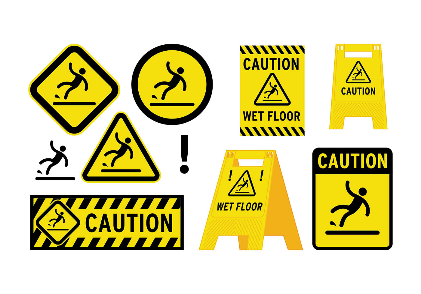 wet floor sign vector download free vector art stock. Black Bedroom Furniture Sets. Home Design Ideas