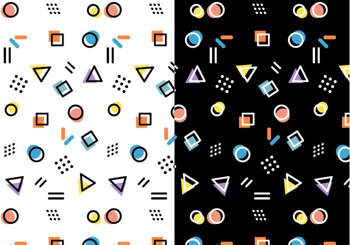 Memphis Pattern Vector