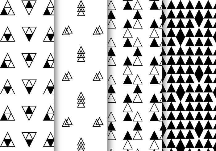 Free Black And White Geometric Pattern Vector Download Free Vector