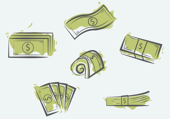 100 Dollars Illustration Vector