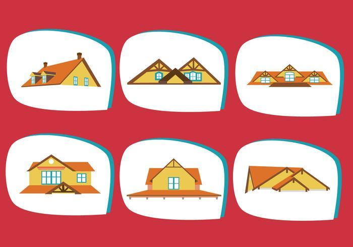 Vector de tejados clásicos