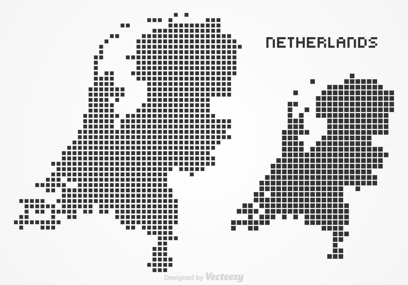Free Netherlands Pixel Map Vector Download Free Vector Art Stock