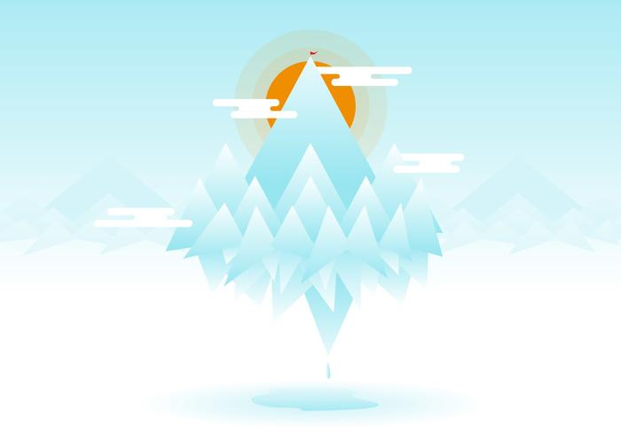 Everest Flat Illustration Vector