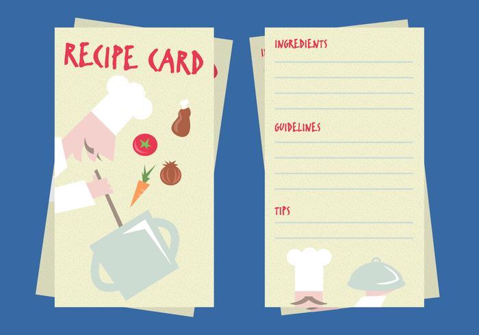 Recipe Card Illustration Vector