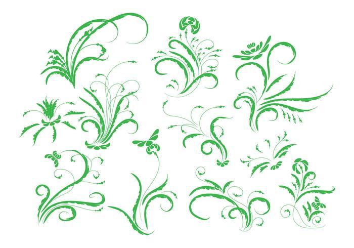 Libre de cosecha floral ornamento vector