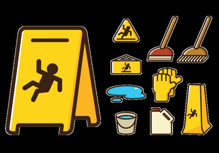 Wet Floor Sign Icons