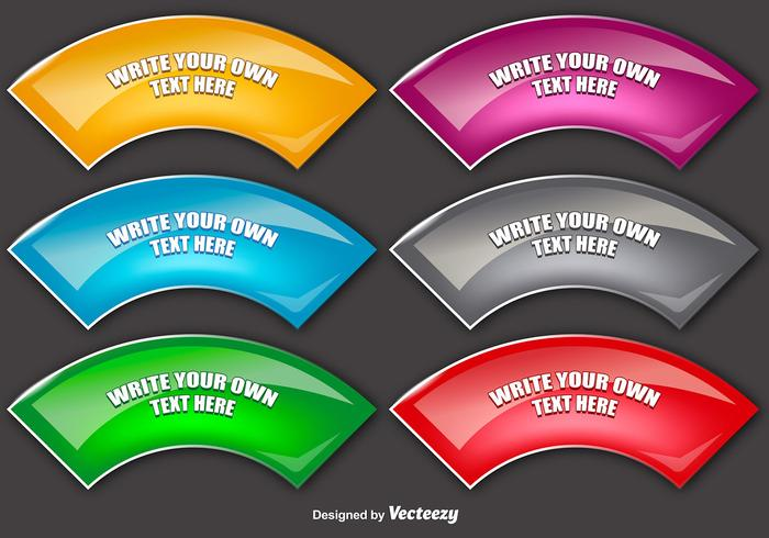 Set Of 6 Vector Colorful Banners