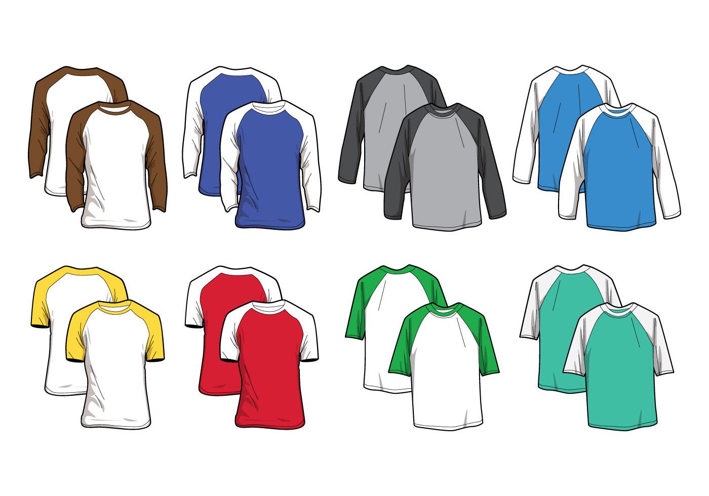 Free raglan t shirt vector download free vector art for Vector art for t shirts
