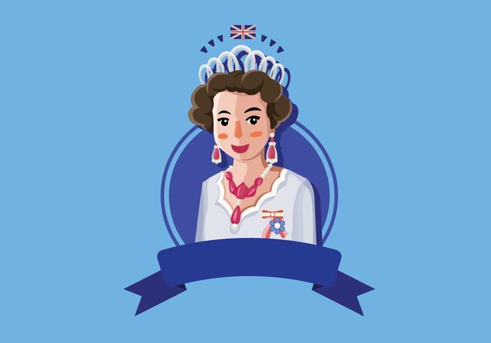 Koningin Elizabeth illustratie vector