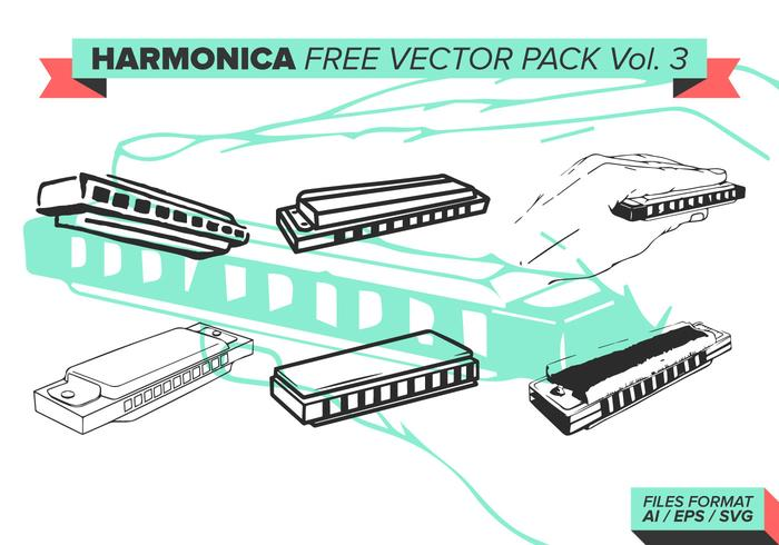 Harmonica Free Vector Pack Vol. 3