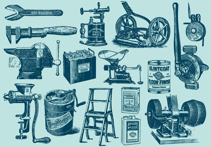 Vintage grote gereedschappen