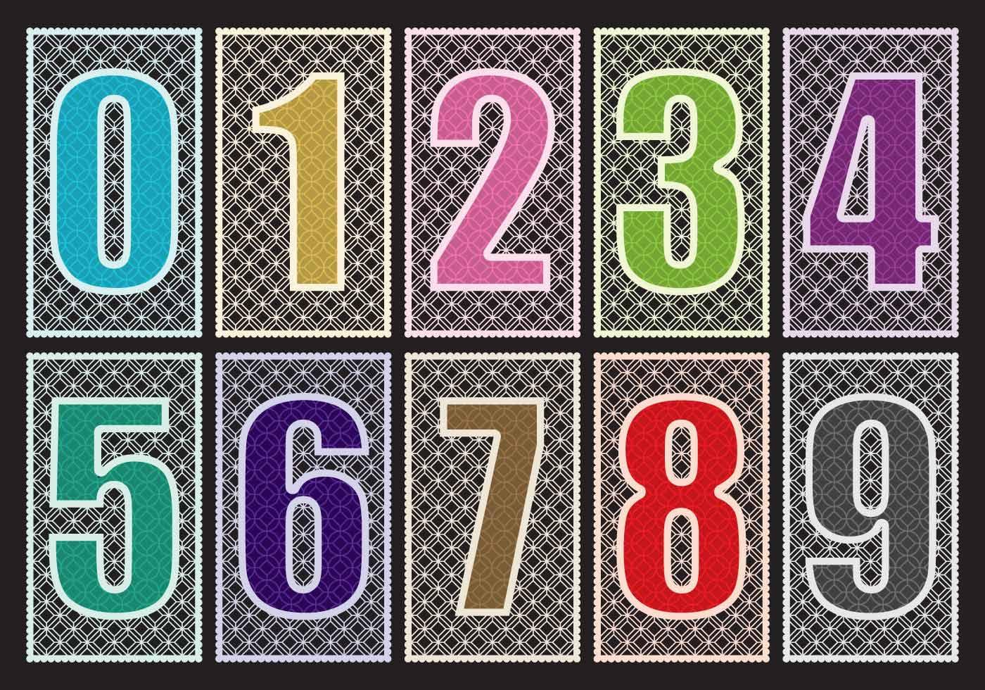 Números de corte con láser - Descargue Gráficos y Vectores Gratis