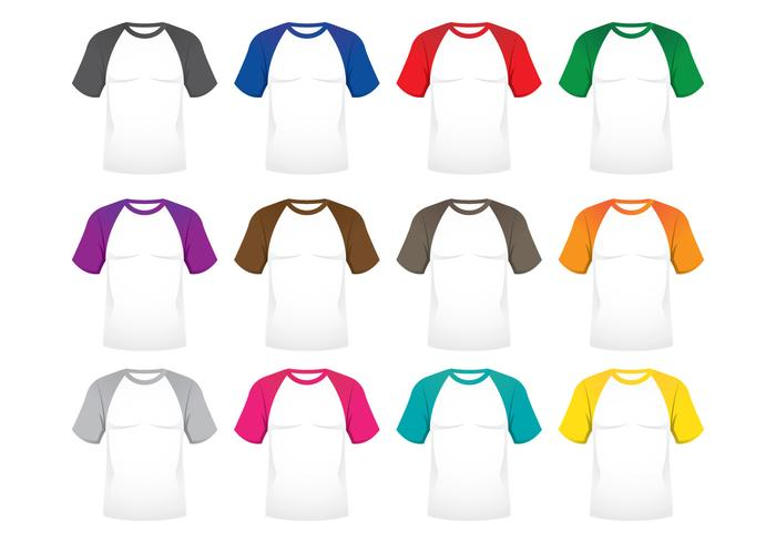 Raglan T-shirts vector