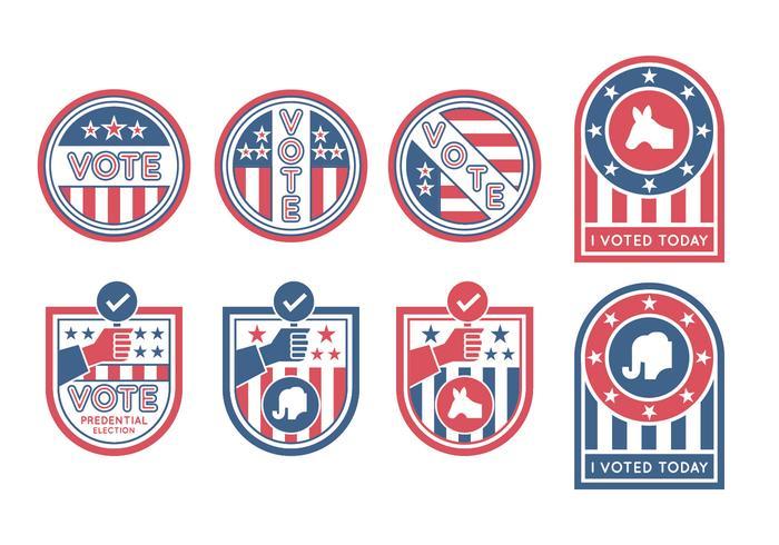 Election Badges Vectors