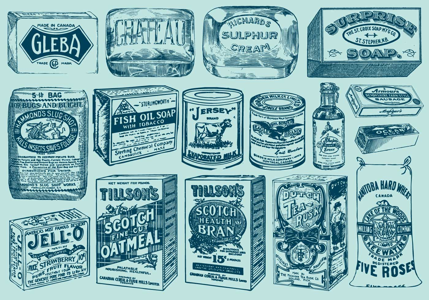 Vintage Packages Download Free Vector Art Stock