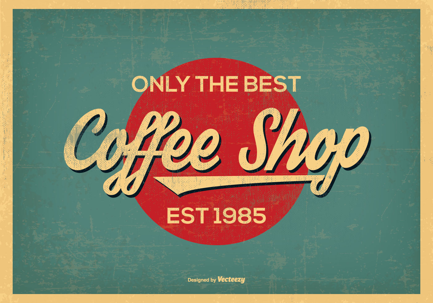 Vintage retro style coffee shop background download free for What is retro style