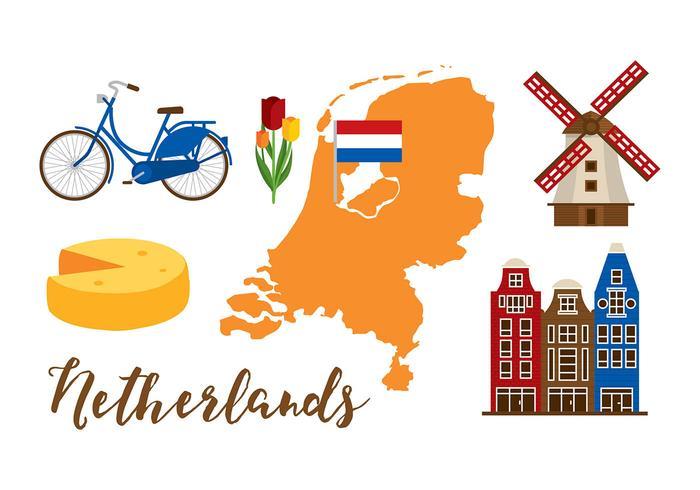 Conjunto de mapas da Holanda