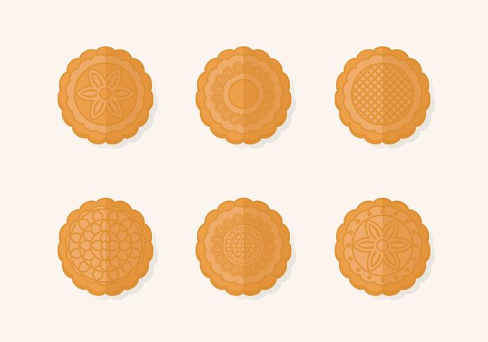 Traditional Mooncake Vector Set