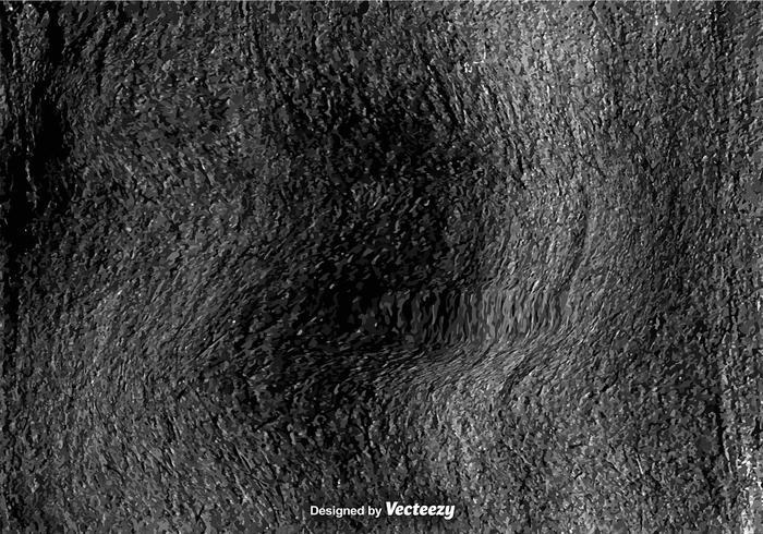 Black Grungy Wall - Vector