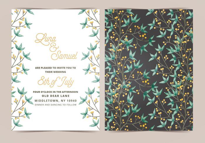 Boho Wedding Vector Wedding Invitation
