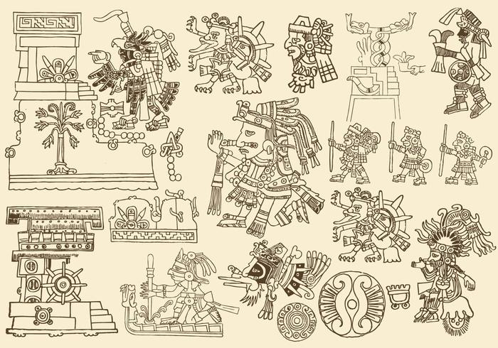 Disegni antichi aztechi