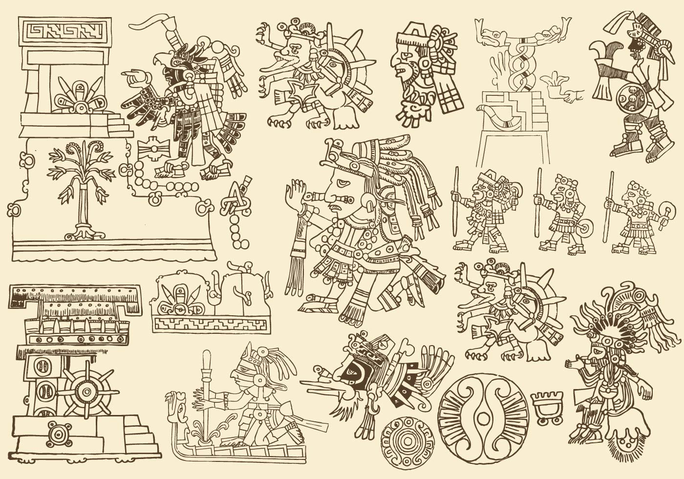 antique aztec drawings download free vector art  stock native american victorville usp native american victory day