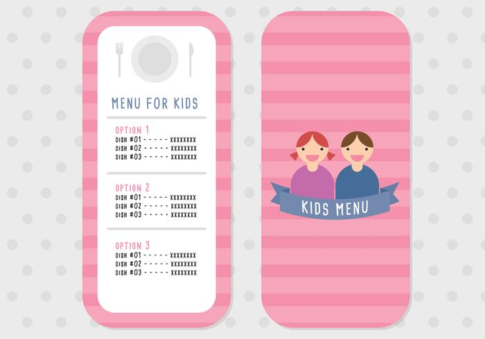 Menu for Kids