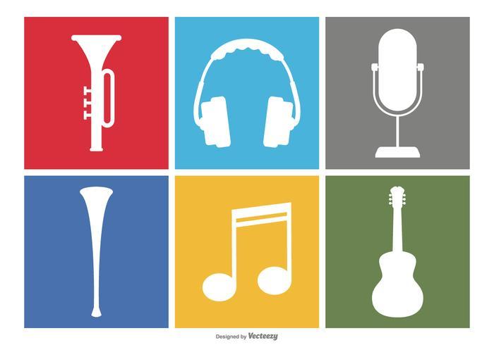 Musik ikonuppsättning