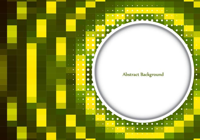 Free Vector Green Color Mosaic Background