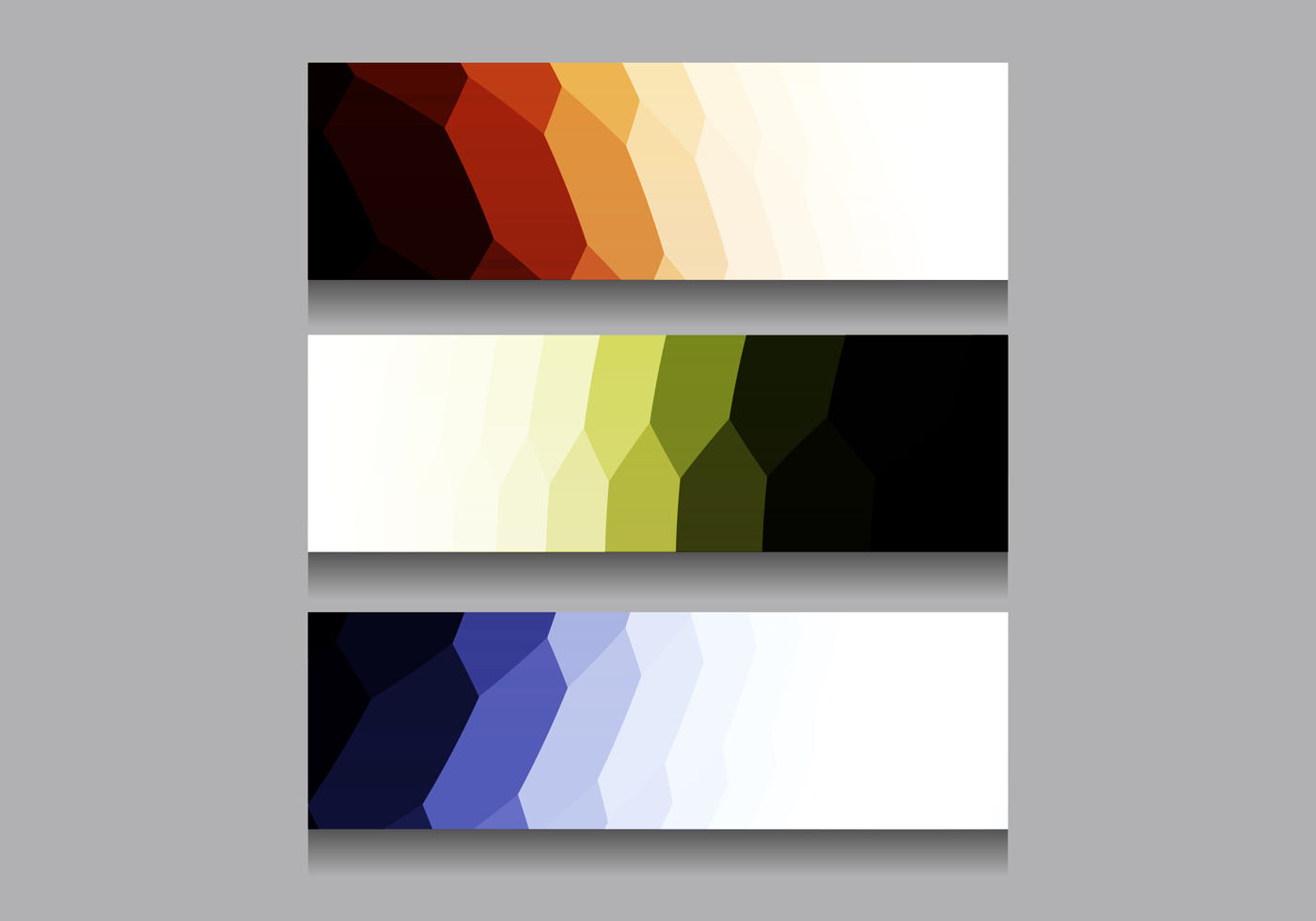 Free Vector Colorful Modern Headers