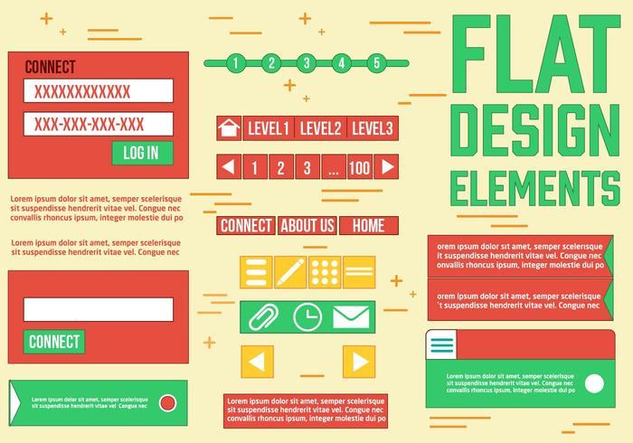 Free Web Design Vektor Elemente
