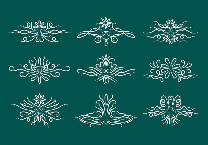 Pinstripe Scrollwork Vector Pictogrammen