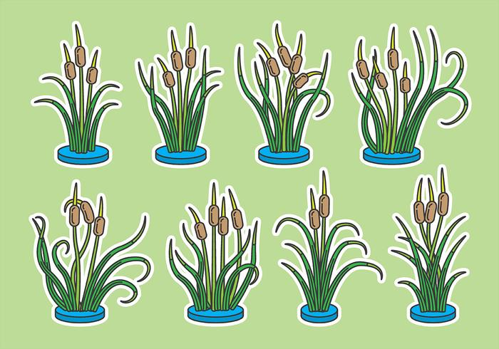 Cattails Vector Icons