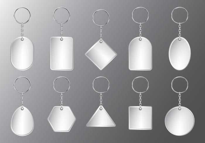 Plastic Sleutelhanger Set