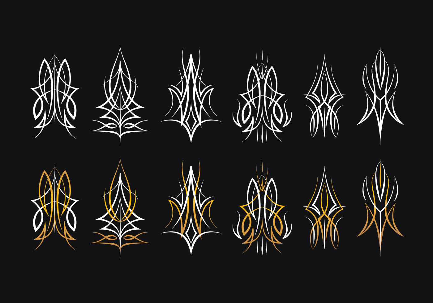 Pinstripes Design Collection Download Free Vectors