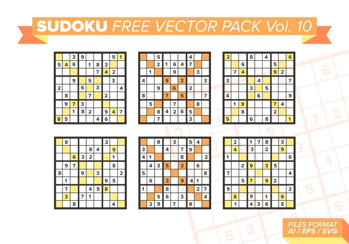 Pacote de vetores grátis sudoku vol. 10