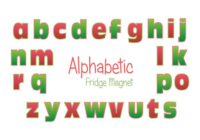 Fridge Magnet Alphabet Vector Set