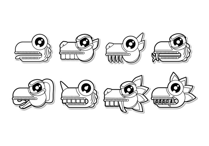 Free Cartoon Mayan Animal Symbol Vector