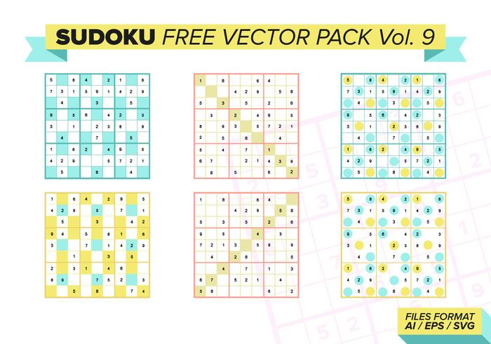 Sudoku Free Vector Pack Vol. 9