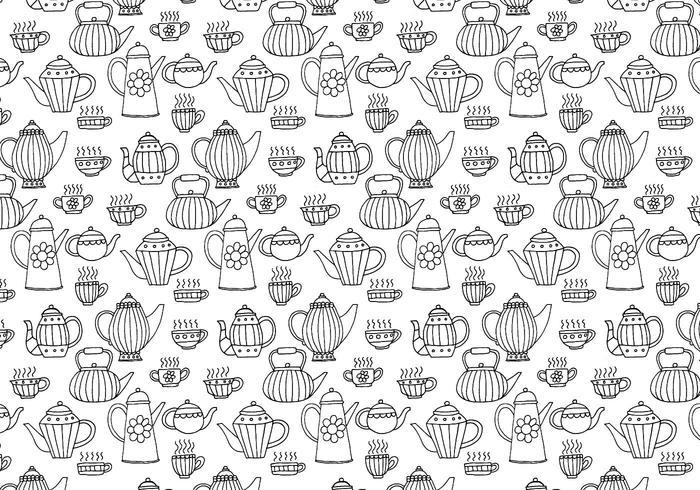 Tazas de té patrón sin fisuras