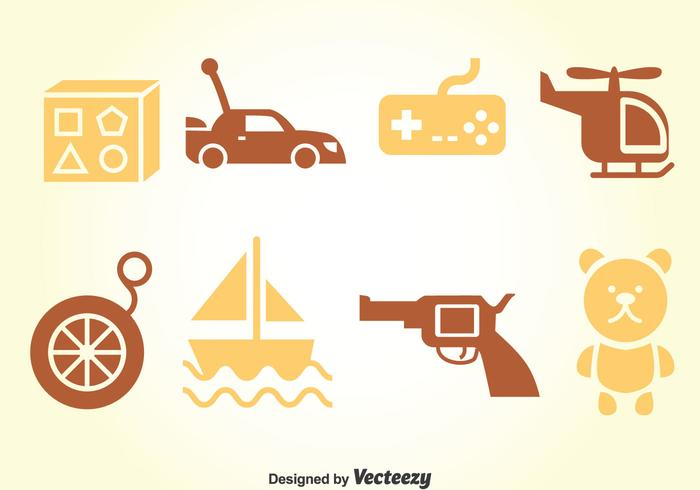 Kids Toys Vector Set