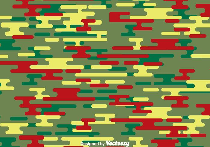 Green And Red Camouflage Pattern